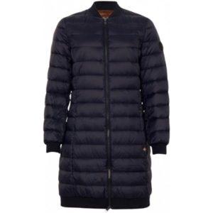 Donker blauwe Dons jas