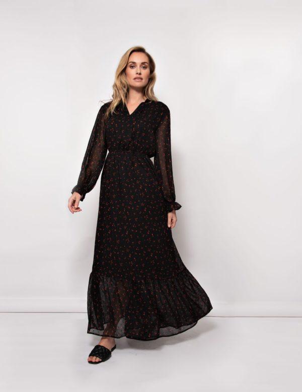 Deliah dress love print