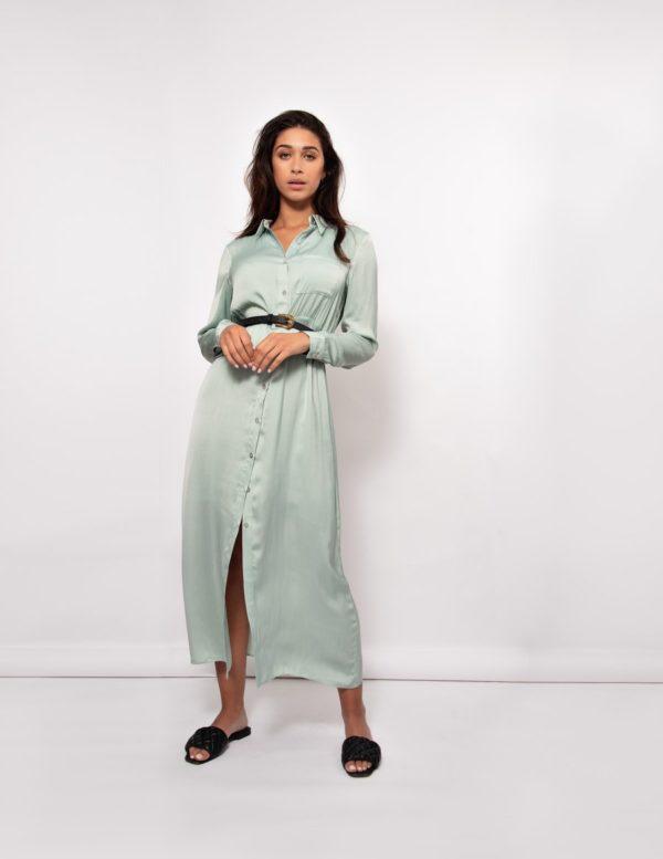 Lang kleed Jade green