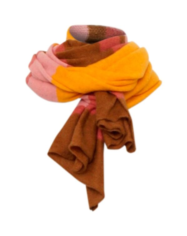 One Size Sjaal in een streepjes patroon, lekker warme Dunne sjaal 8% Mohair, 15% Wool, 30% Nylon, 47% Acryl