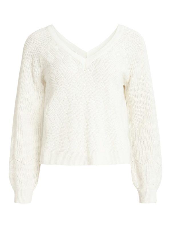 Pullover met v-hals