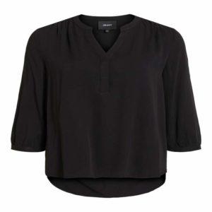 Zwarte blouse met v-neck