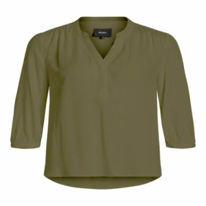 Kaki Blouse v-neck