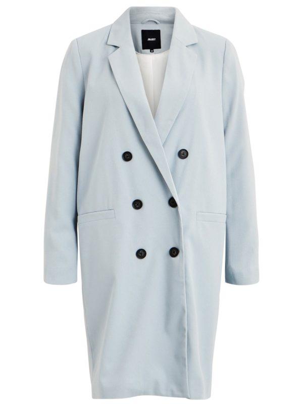 Lange blauwe jas