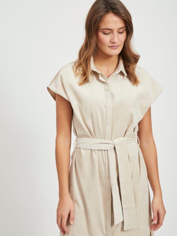 Lichte beige jurk