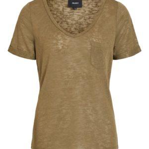 Bassic t-Shirt met v Hals