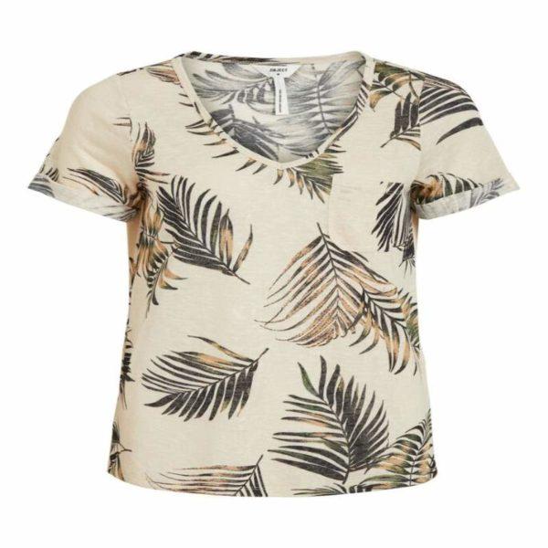 T-shirt met v-neck