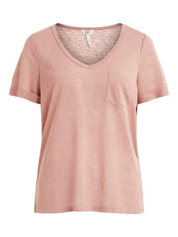 v-hals t-shirt Rose
