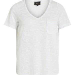 Witte t-shirt met v-hals