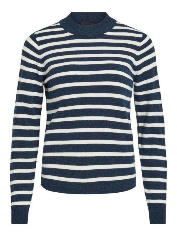 Pullover met streepjes