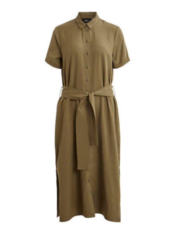 shirt dress olive