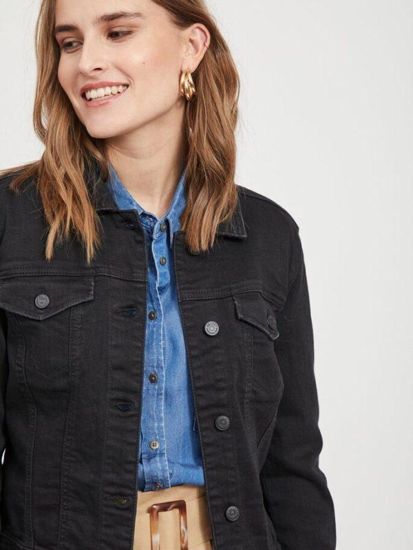 Zwarte jeans jas