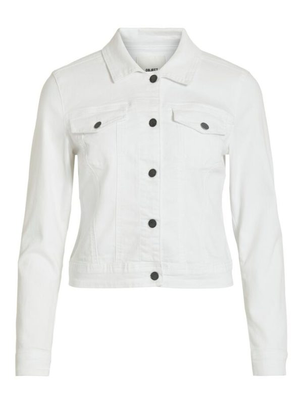 Witte jeans jas