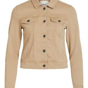 Licht beige jeans jas