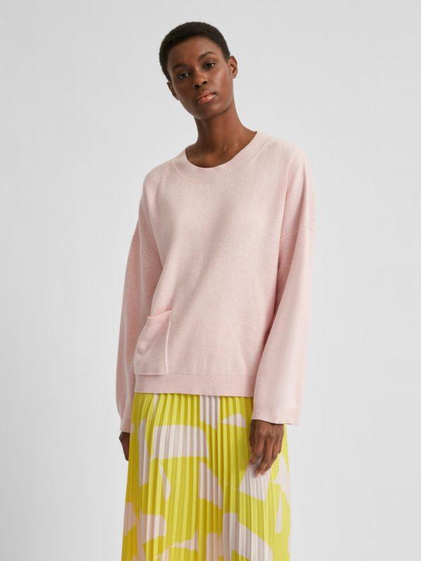 Sweater met lage schouder