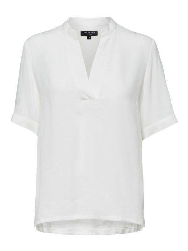 Witte top met v-hals