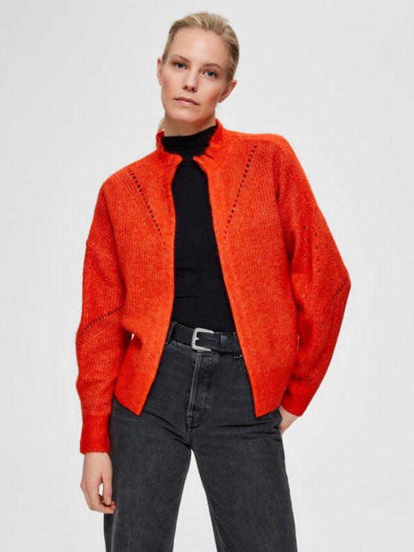 Oranje cardigan