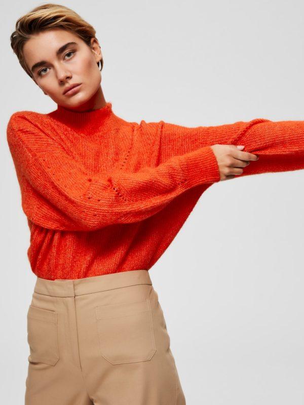 slfinga knit frill orange