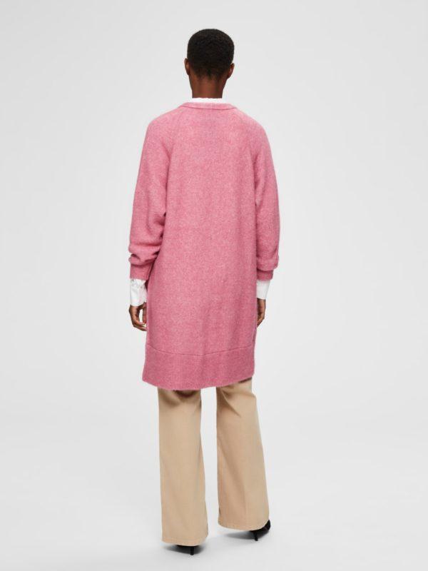 Roze cardigan