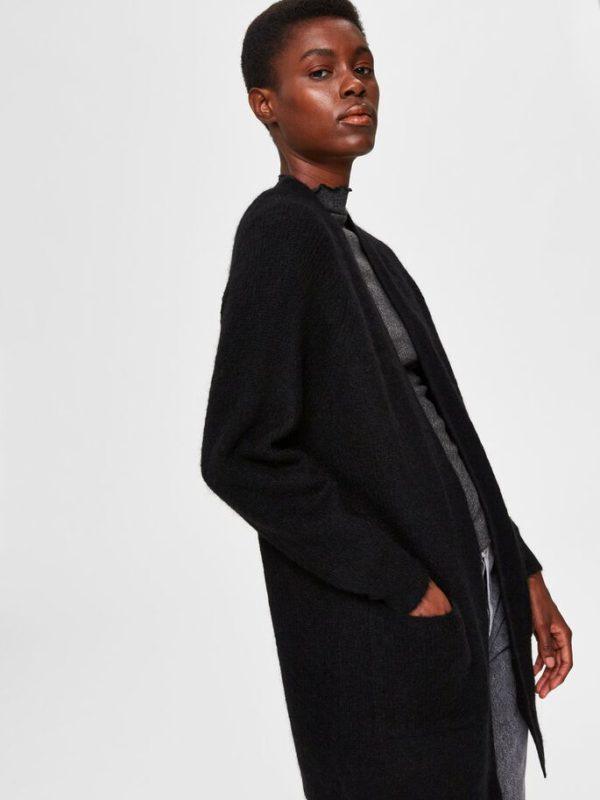 zwarte lange vest