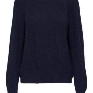 Donker blauwe pullover (v-neck aan de achterzijde)