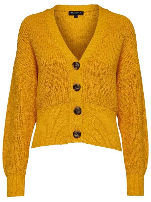 Gele cropped cardigan