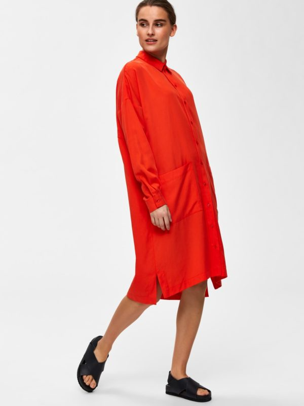shirt dress oranje