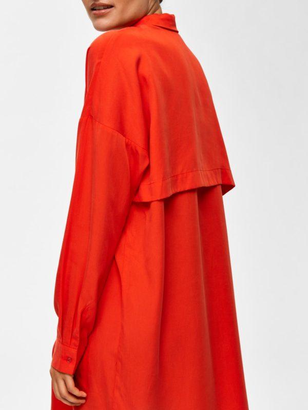 shirt dress oranje