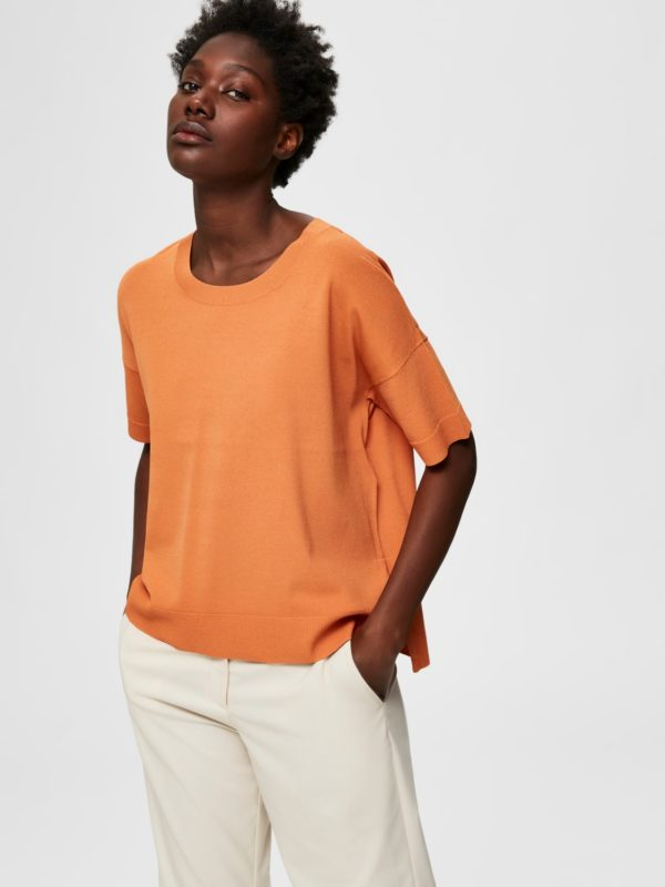 T-shirt caramel