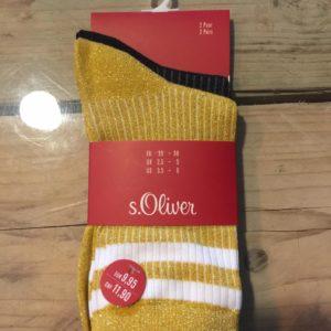 Sokken gold/black (maat35-38)